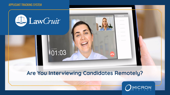 LawCruit Video Interviewing Collaboration with Webex and Zoom